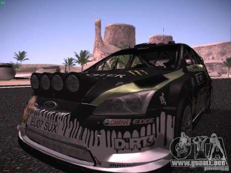 Ford Focus RS Monster Energy para GTA San Andreas vista hacia atrás