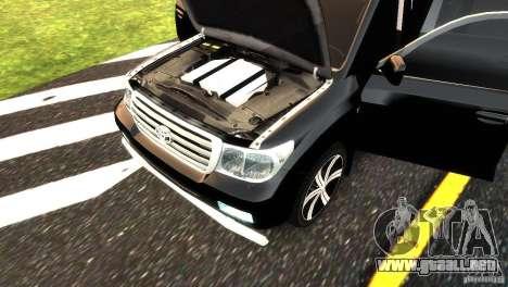 Toyota Land Cruiser 200 RESTALE para GTA 4 vista superior