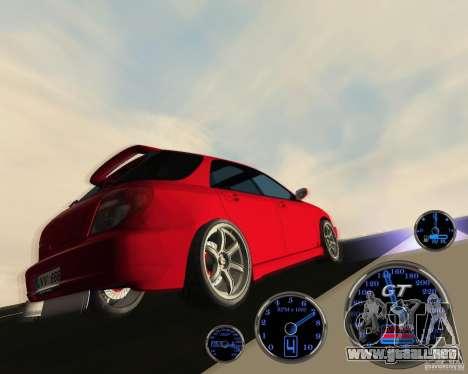 Subaru Impreza Universal para GTA San Andreas vista hacia atrás