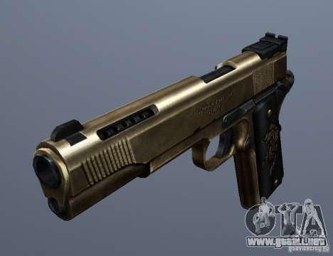 Golden 1911 para GTA San Andreas segunda pantalla
