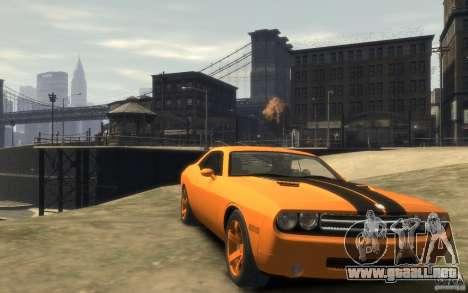 Dodge Challenger Concept para GTA 4 vista hacia atrás