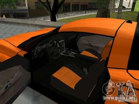 Chevrolet Corvette (C6) para GTA San Andreas vista hacia atrás