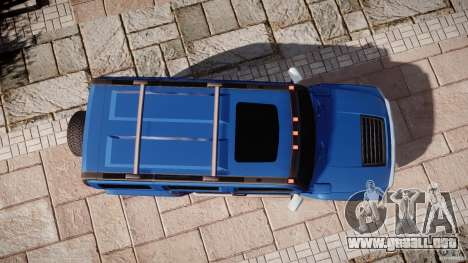 Hummer H3 para GTA 4 vista superior