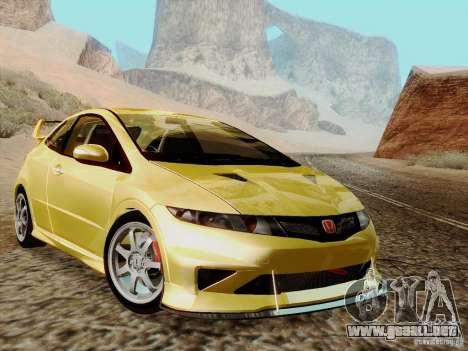 Honda Civic TypeR Mugen 2010 para la visión correcta GTA San Andreas