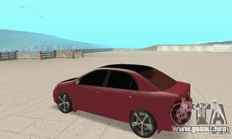Toyota Corolla Tuning para GTA San Andreas vista hacia atrás