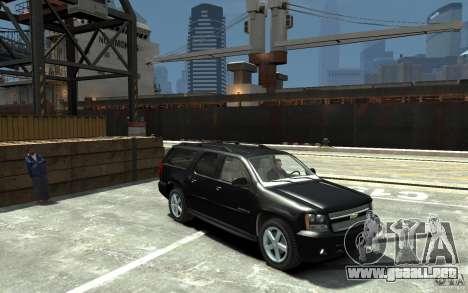 Chevrolet Suburban 2008 (beta) para GTA 4 vista hacia atrás