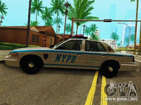 Ford Crown Victoria 2003 NYPD White para GTA San Andreas left