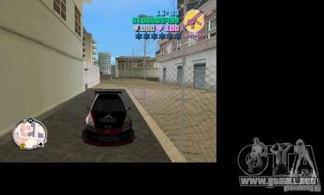 Mitsubishi Lancer Evo VIII para GTA Vice City vista lateral izquierdo