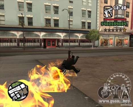 Ghost Rider para GTA San Andreas quinta pantalla