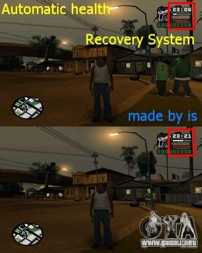 Relleno automático de salud. para GTA San Andreas