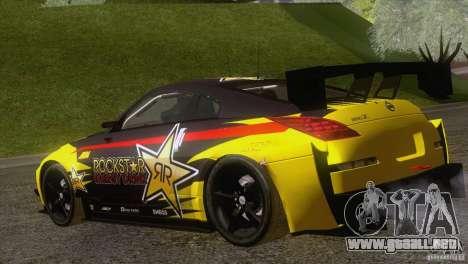 Nissan 350Z Rockstar para GTA San Andreas left