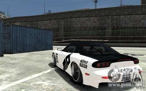 Mazda RX-7 para GTA 4 Vista posterior izquierda