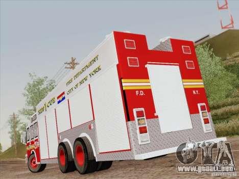 E-One F.D.N.Y Fire Rescue 1 para GTA San Andreas interior