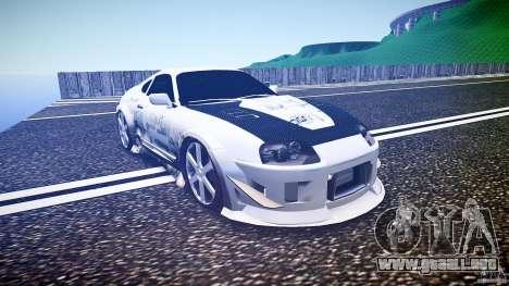 Toyota Supra ProStreet Style para GTA 4 vista hacia atrás