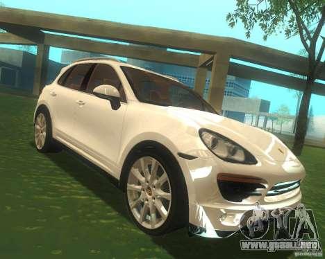 Porsche Cayenne 958 2010 V1.0 para GTA San Andreas vista hacia atrás
