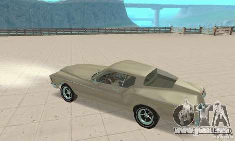 Buick Riviera 1972 Boattail para GTA San Andreas vista hacia atrás