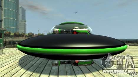 UFO neon ufo green para GTA 4 left