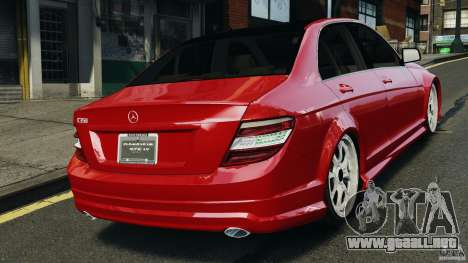 Mercedes-Benz C350 Avantgarde v2.0 para GTA 4 Vista posterior izquierda
