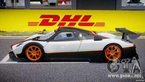Pagani Zonda R 2009 Italian Stripes para GTA 4 left
