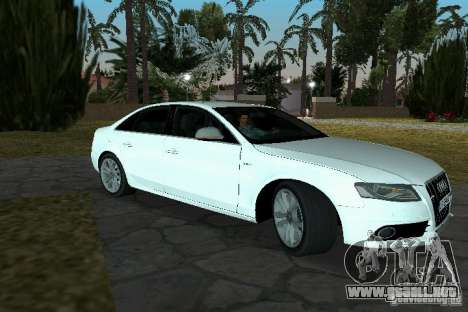Audi S4 2010 para GTA Vice City vista lateral izquierdo