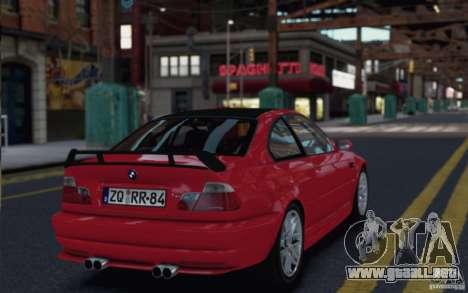 BMW M3 Street Version e46 para GTA 4 visión correcta