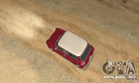 Mini Cooper S para GTA San Andreas vista posterior izquierda