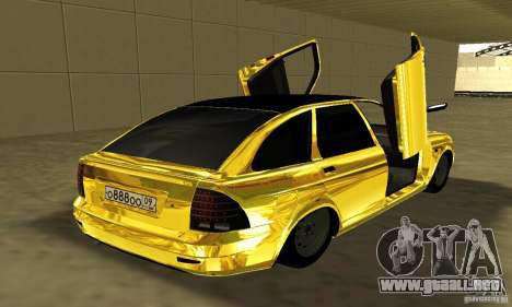 Lada Priora Gold para GTA San Andreas left
