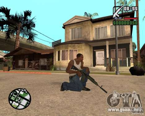 AK-47 from GTA 5 v.1 para GTA San Andreas segunda pantalla