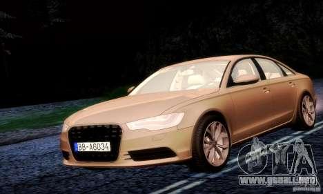 Audi A6 2012 para GTA San Andreas vista hacia atrás