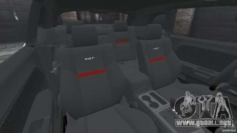 Dodge Challenger SRT8 392 2012 para GTA 4 vista interior