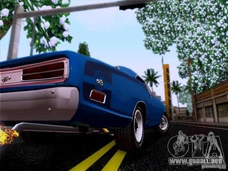 Dodge Coronet Super Bee v2 para GTA San Andreas vista hacia atrás