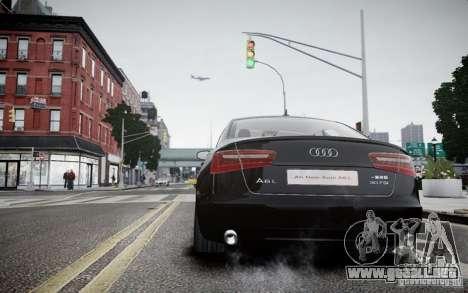 Audi A6L para GTA 4 Vista posterior izquierda