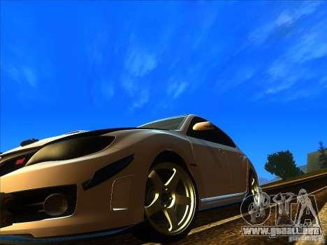Subaru Impreza WRX 2008 Tunable para la visión correcta GTA San Andreas
