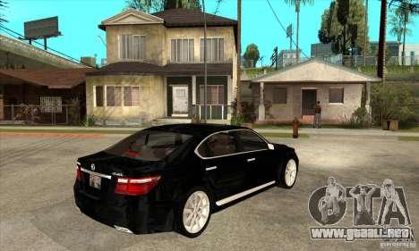 Lexus LS460L 2010 para la visión correcta GTA San Andreas