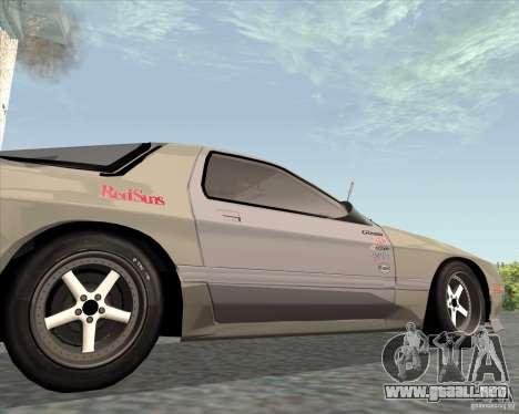 Mazda Savanna RX-7 FC3S para GTA San Andreas vista hacia atrás