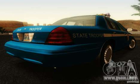 Ford Crown Victoria Wisconsin Police para GTA San Andreas left
