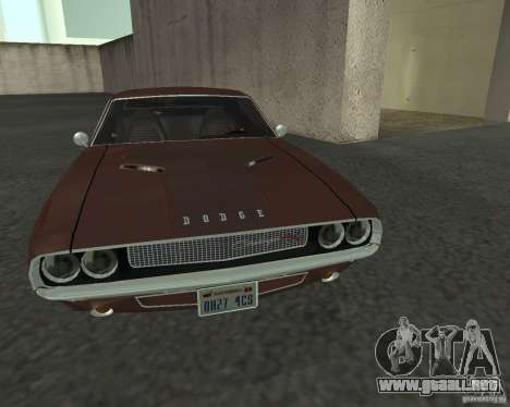 Dodge Challenger para visión interna GTA San Andreas