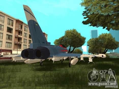 Eurofighter Typhoon para GTA San Andreas left