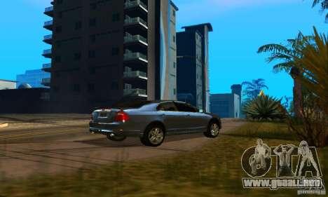 Ford Fusion Sport para GTA San Andreas vista posterior izquierda