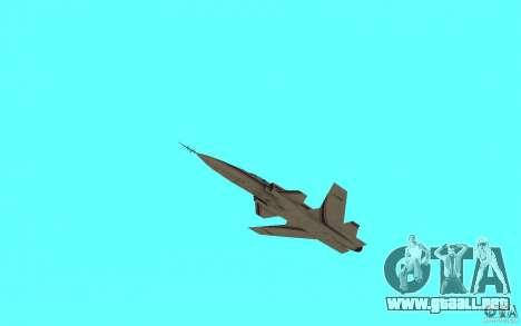 Grumman X29A para GTA San Andreas vista posterior izquierda