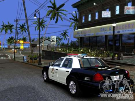 Ford Crown Victoria LAPD [ELS] para GTA 4 left