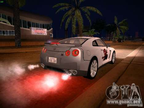 Nissan GT-R para el motor de GTA San Andreas