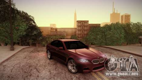 BMW M5 F10 para la vista superior GTA San Andreas