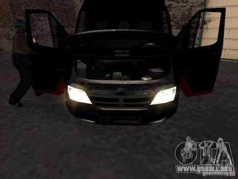 Dodge Sprinter Van 2500 para la visión correcta GTA San Andreas