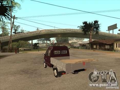 GAS 33023 para GTA San Andreas vista posterior izquierda