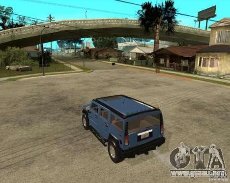 AMG H2 HUMMER para GTA San Andreas left