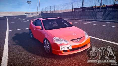 Acura RSX TypeS v1.0 stock para GTA 4 vista hacia atrás