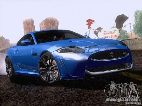 Jaguar XKR-S 2011 V2.0 para GTA San Andreas vista hacia atrás
