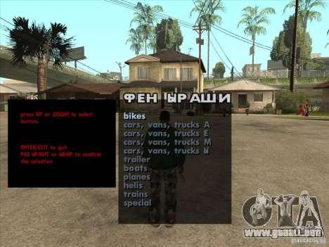 Máquinas de vehículo desove Premium-Spauner para GTA San Andreas
