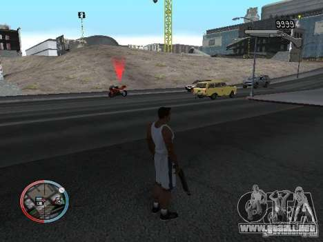 SUPER BIKE MOD para GTA San Andreas sucesivamente de pantalla